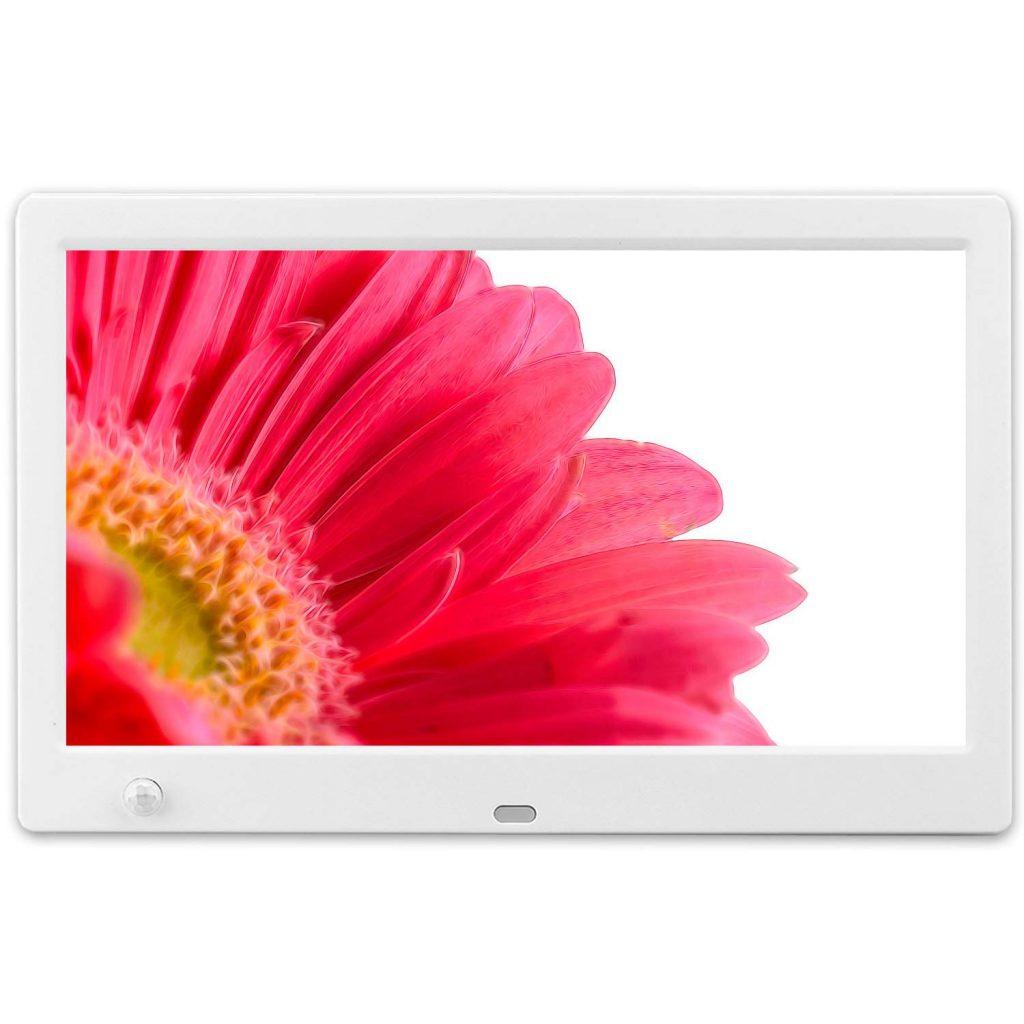 MRQ デジタルフォトフレーム 10.1インチ 1024*600解像度 IPS液晶 人感センサー 白 DF0013 B07MHRVH7M 1枚目