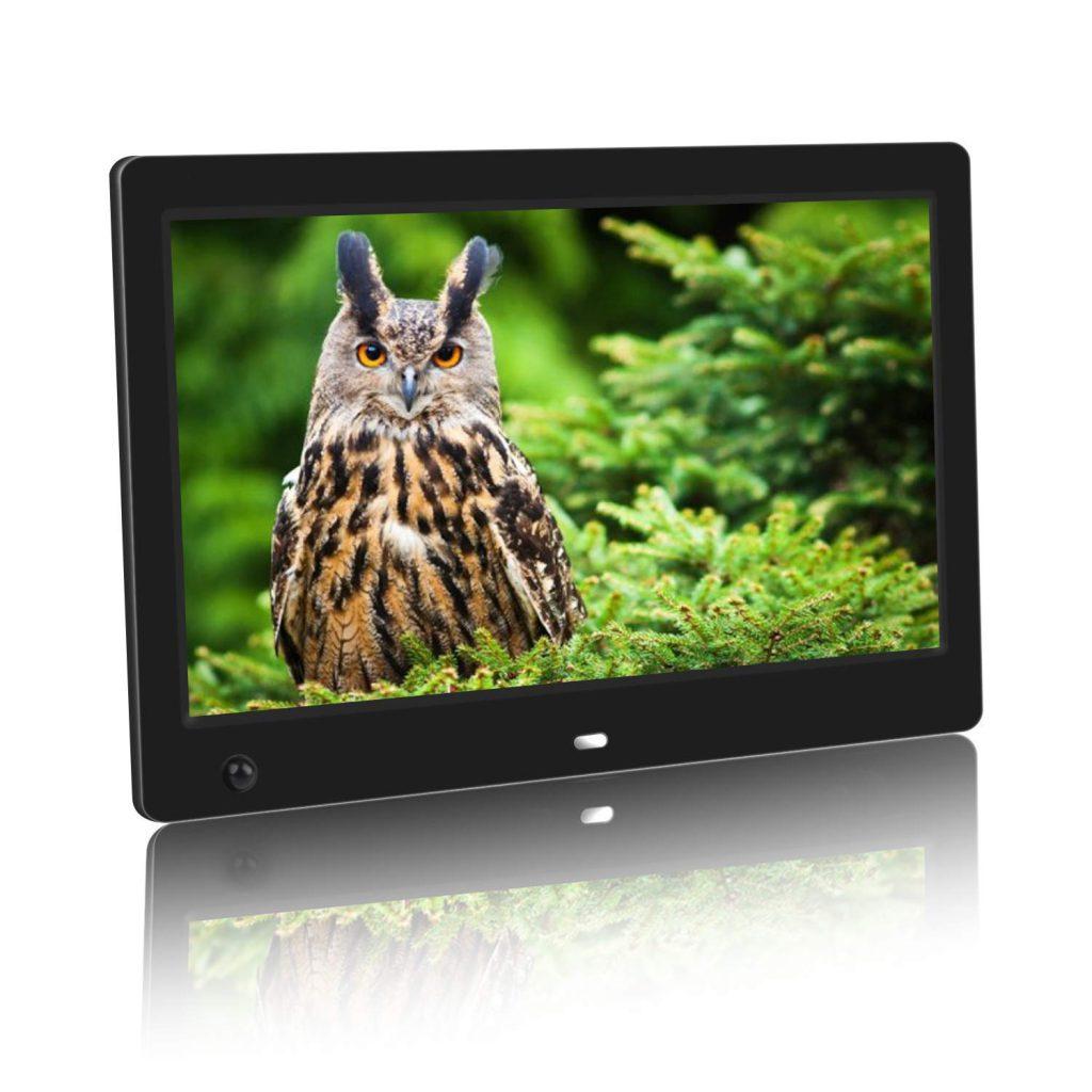 MUHEN デジタルフォトフレーム 10.1インチ1024X600解像度 人感センサー 自動再生 LEDバックライト液晶 B07H3SNW8M 1枚目