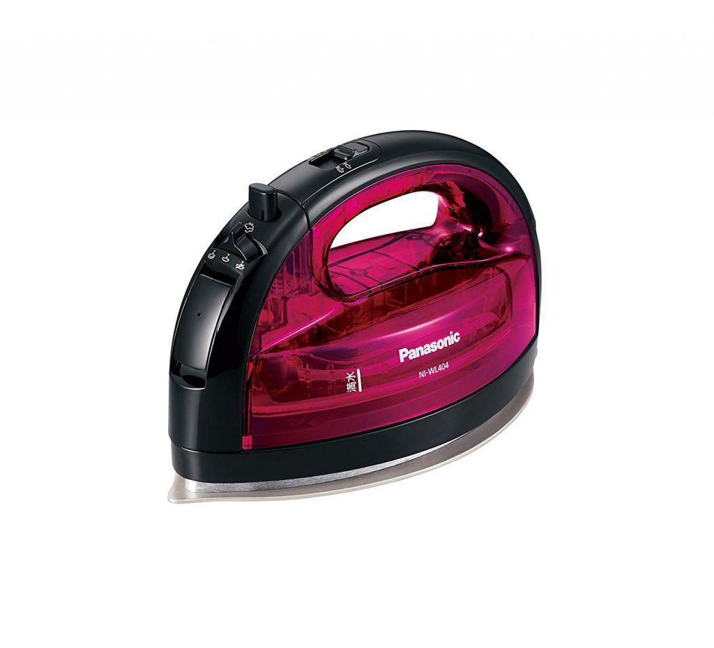 Panasonic (パナソニック) コードレススチームWヘッドアイロン ピンク NI-WL404-P  1枚目