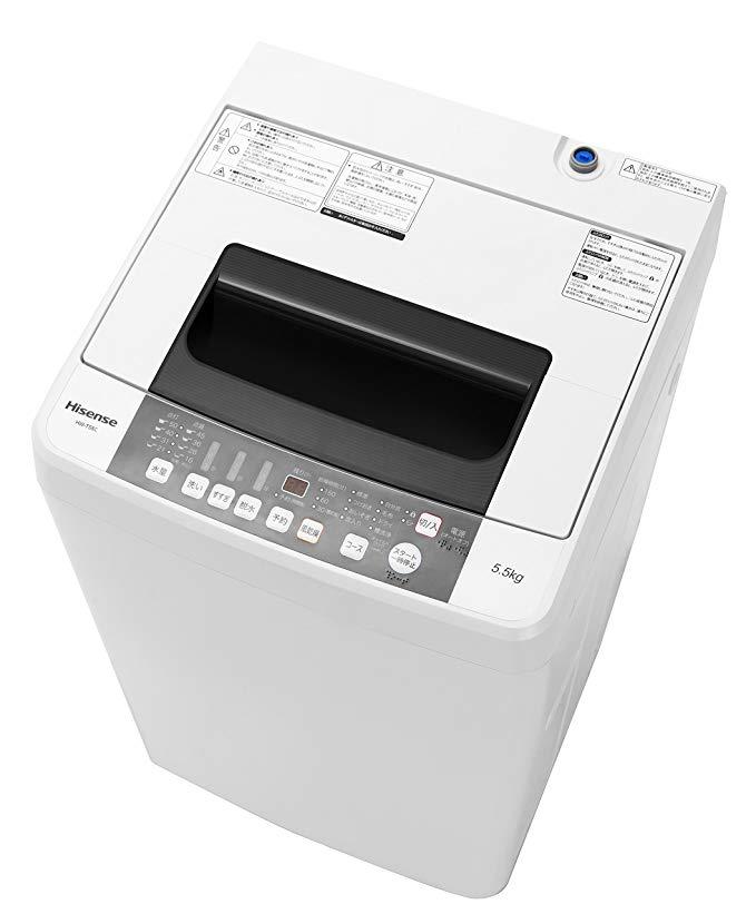 Hisense (ハイセンス) スリムボディー 全自動洗濯機 HW-T55C B077JM426Y 1枚目
