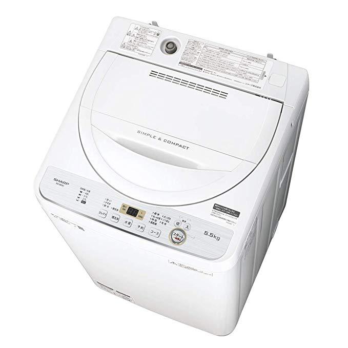 SHARP (シャープ) 全自動洗濯機 5.5kg ステンレス槽 ホワイト系 ES-GE5C-W B07KC1VPT4 1枚目