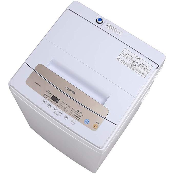 アイリスオーヤマ 全自動洗濯機 一人暮らし 5kg 簡易乾燥機能付き IAW-T502EN B07JR174ZT 1枚目