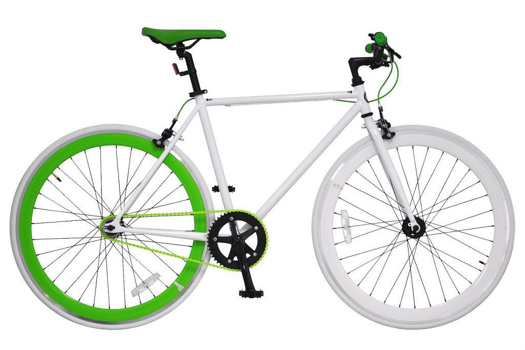 ANIMATO ピストバイク 700C PISTO ホワイト×グリーン シングルスピード A-12 B010FJVIRY 1枚目