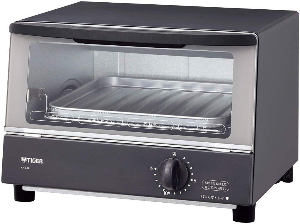 タイガー魔法瓶 オーブン トースター グレー KAK-B100-HW B074T6TN35 1枚目