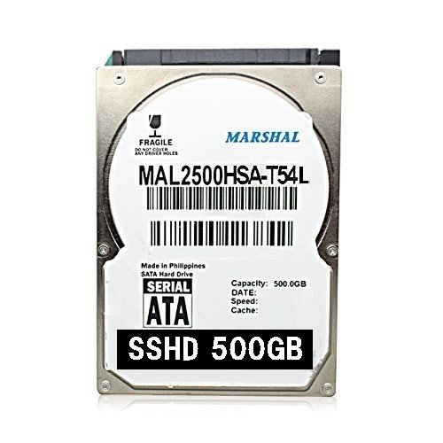 MARSHAL  SSHD 2.5インチ HYBRID 内蔵 HDD 500GB 5400rpm 7mm厚 SATA スリム 薄型 SSD搭載 MAL2500HSA-T54L B00S5WJVTG 1枚目