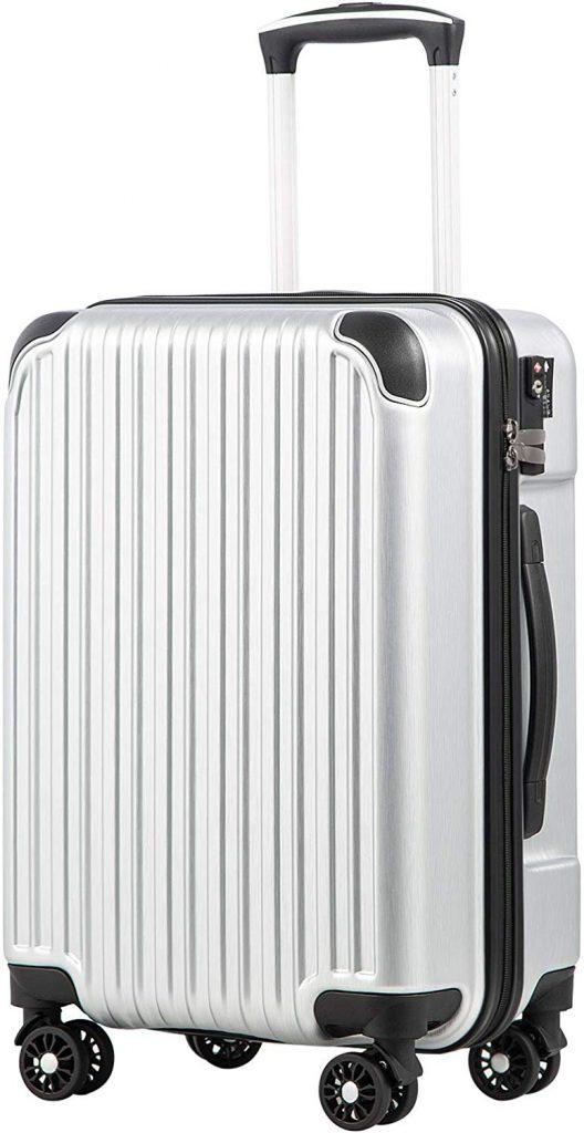 クールライフ スーツケース キャリーバッグダブルキャスター  機内持込 ファスナー式 人気色 超軽量 TSAローク B07DL2CNMP 1枚目